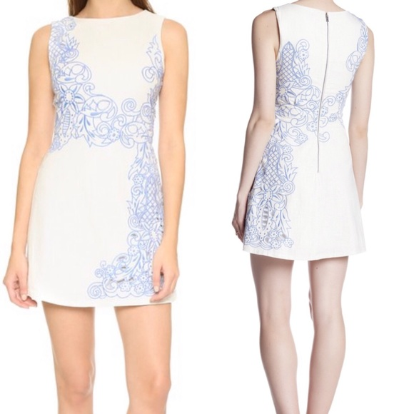 950c3b7a9eaf7 Alice + Olivia Dresses | Alice Olivia Dress White Malin Blue ...